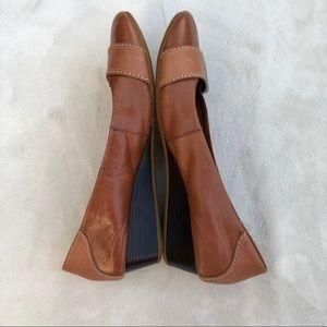 Hush Puppies Shoes Cognac Casual Heels 9 1/2 Wide